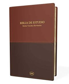 Biblia de Estudio RVR, Piel Imitada Marron (RVR Study Bible, Soft Leather-Look, Brown) - Case of 6